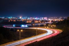 Nuit Nizny Novgorod Photo libre de droits