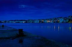 Nuit nuageuse de la pleine lune Photo stock