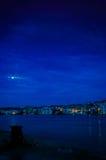 Nuit nuageuse de la pleine lune Images libres de droits