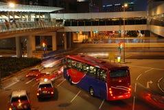 Nuit occupée de Hong Kong Photos stock