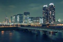 Nuit Odaiba, Tokyo Photo libre de droits