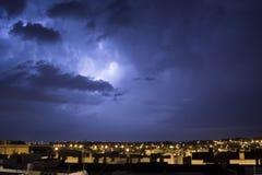 Nuit orageuse dans Puerto vrai Photos libres de droits
