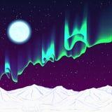 Nuit polaire Photographie stock libre de droits