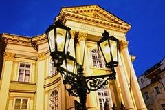 Nuit Prague Photos stock