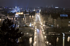 Nuit Prague images libres de droits