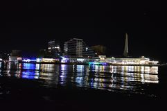Nuit Quay Photographie stock