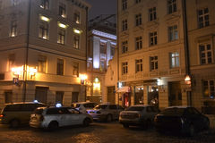 Nuit Riga Photos libres de droits