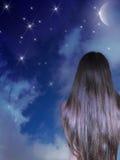 Nuit romantique Image libre de droits