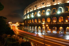 nuit Rome de colosseo Photographie stock