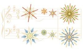 Nuit silencieuse Straw Stars Christmas Song illustration libre de droits