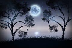 Nuit silencieuse sur la rivière Images stock