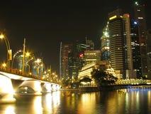 nuit Singapour photo stock