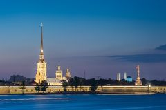 Nuit St Petersburg Photographie stock