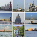 Nuit St Petersburg, Russie images stock