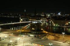 nuit Stockholm Photographie stock libre de droits