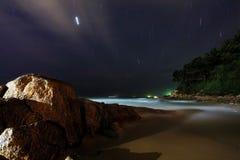 Nuit sur la plage Image libre de droits