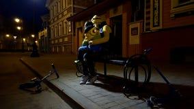 Nuit sur la rue photo stock