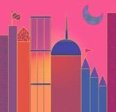 Nuit sur la ville Image libre de droits
