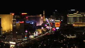 Nuit Timelapse (QG 1080p) de bande de Las Vegas banque de vidéos