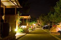 Nuit tirée des cabines de logarithme naturel Images libres de droits