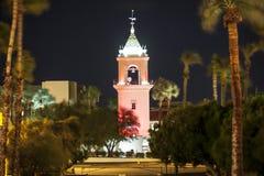 Nuit venteuse dans le Palm Springs Image libre de droits