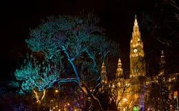 Nuit Vienne Photographie stock libre de droits