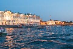 Nuits blanches à St Petersburg Musée d'ermitage d'état Image libre de droits