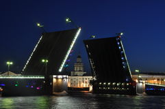 Nuits blanches de Sankt Pétersbourg Images libres de droits