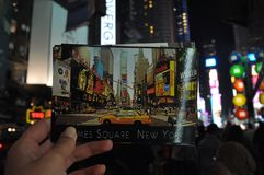 Nuits de New York photos stock