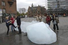 从NUK格陵兰的冰块 免版税图库摄影