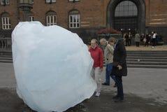 从NUK格陵兰的冰块 免版税库存图片
