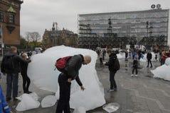 从NUK格陵兰的冰块 免版税库存照片