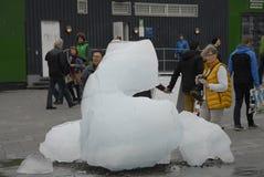 从NUK格陵兰的冰块 库存照片