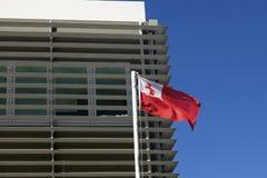 Nuku'alofa building and Tongan flag Royalty Free Stock Image
