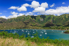 Nuku Hiva, Marquesas öar Royaltyfri Fotografi