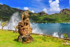 Nuku Hiva, Marquesas öar Arkivfoto
