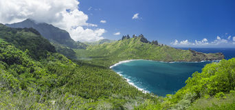 Nuku Hiva Points Mountain Stock Photo