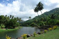 Nuku Hiva. Stream in Nuku Hiva, Marquesas Stock Photos
