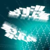 Nul Één Achtergrond betekent Virtueel Internet en Server Stock Afbeelding