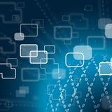 Nul Één Achtergrond toont de Technologie en de Breedband van Internet royalty-vrije illustratie