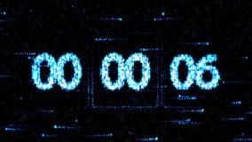 Nul aftelprocedure De aftelprocedure op het computerscherm De klokken worden geplaatst bij 00:00 beginnend een nieuwe aftelproced stock illustratie