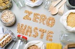Nul Afvalachtergrond, de Vriendschappelijke Plastic Vrije Levensstijl van Eco royalty-vrije stock foto