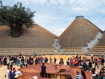 Nul paviljoen in EXPO, de wereldexpositie Royalty-vrije Stock Fotografie