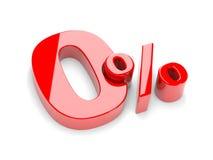 Nul percenten Royalty-vrije Stock Afbeelding
