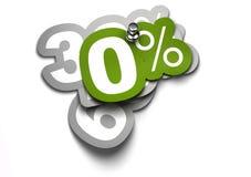 Nul percentensticker Royalty-vrije Stock Foto