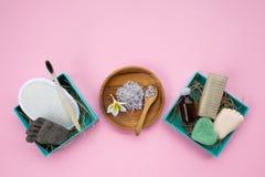 Nul producten van afvalschoonheidsmiddelen stock foto's