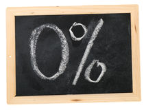 Nul van percenten Stock Afbeeldingen