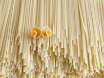 Null. Close up on assortment of uncooked pasta royalty free stock photos