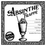 Historic New Orleans Cocktail the Absinthe Frappe stock photos