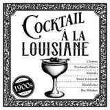 Historic New Orleans Cocktail a la Louisiane stock photos